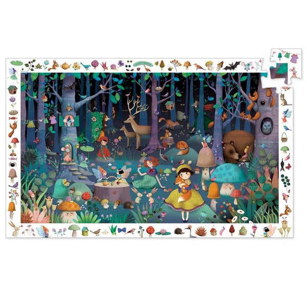 enchanted forest observation puzzle - 100 piece