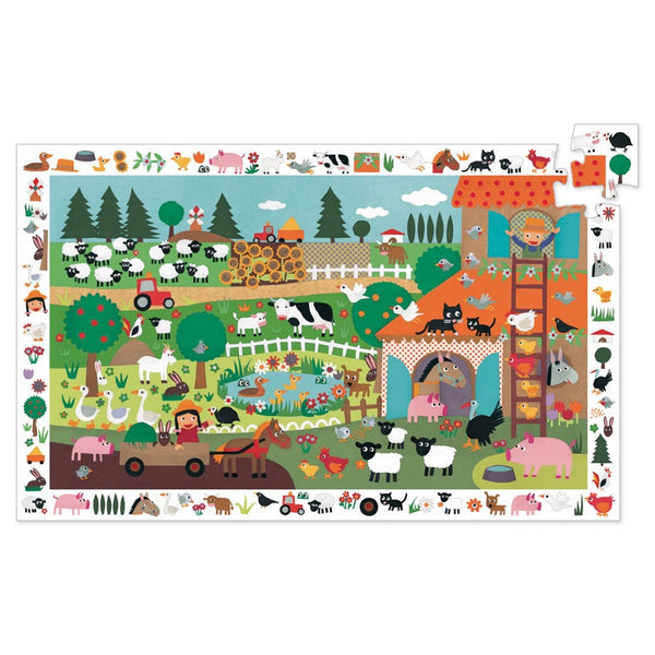 farm observation puzzle - 35 piece