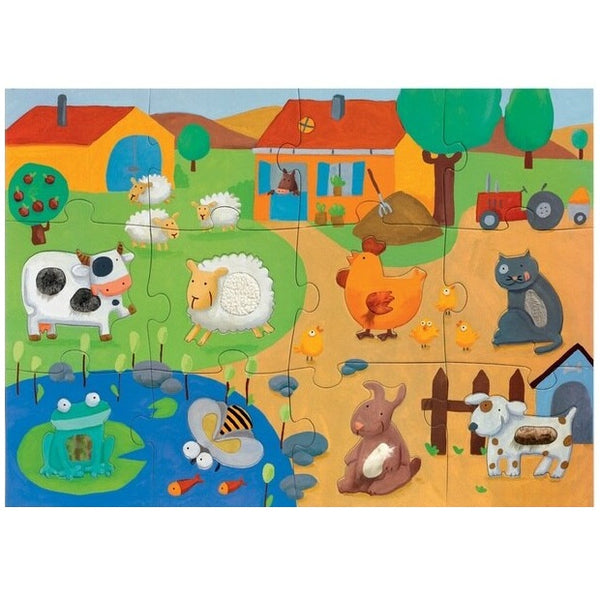 giant tactile farm puzzle - 20 piece
