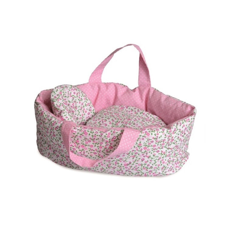 pink floral doll carrier - small