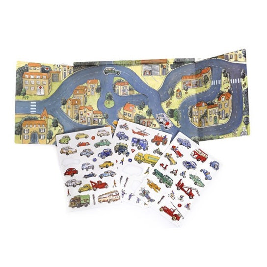 magnetic playset - traffic/cars