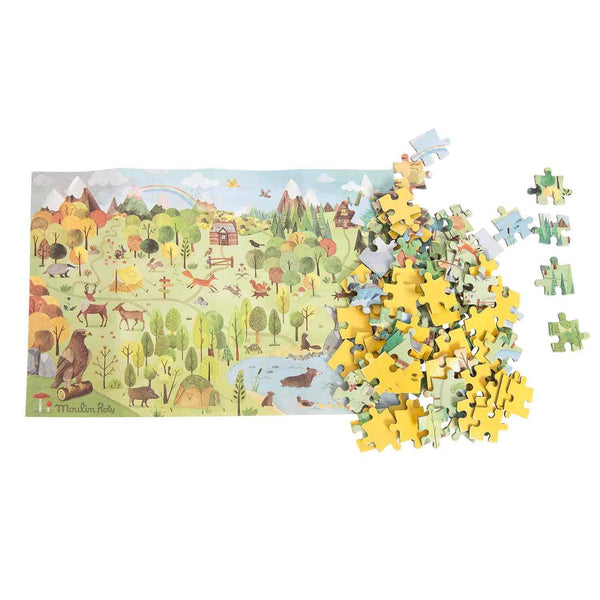 le jardin forest puzzle - 96 pieces