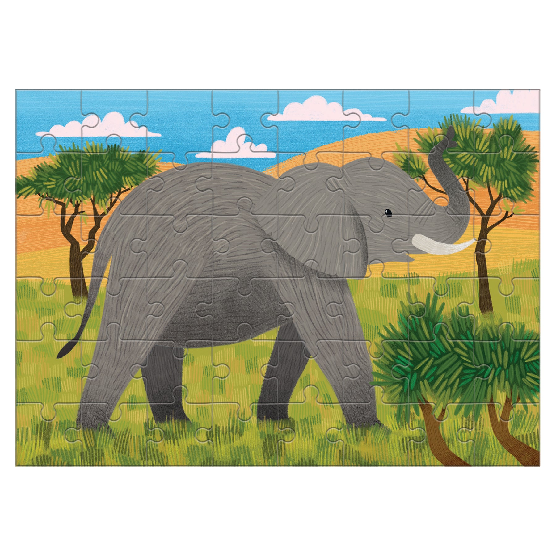 elephant mini puzzle - 48 piece