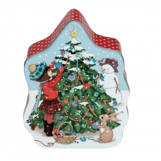belle and boo embossed christmas tin