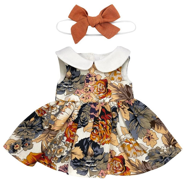 autumn dress with headband - 38cm