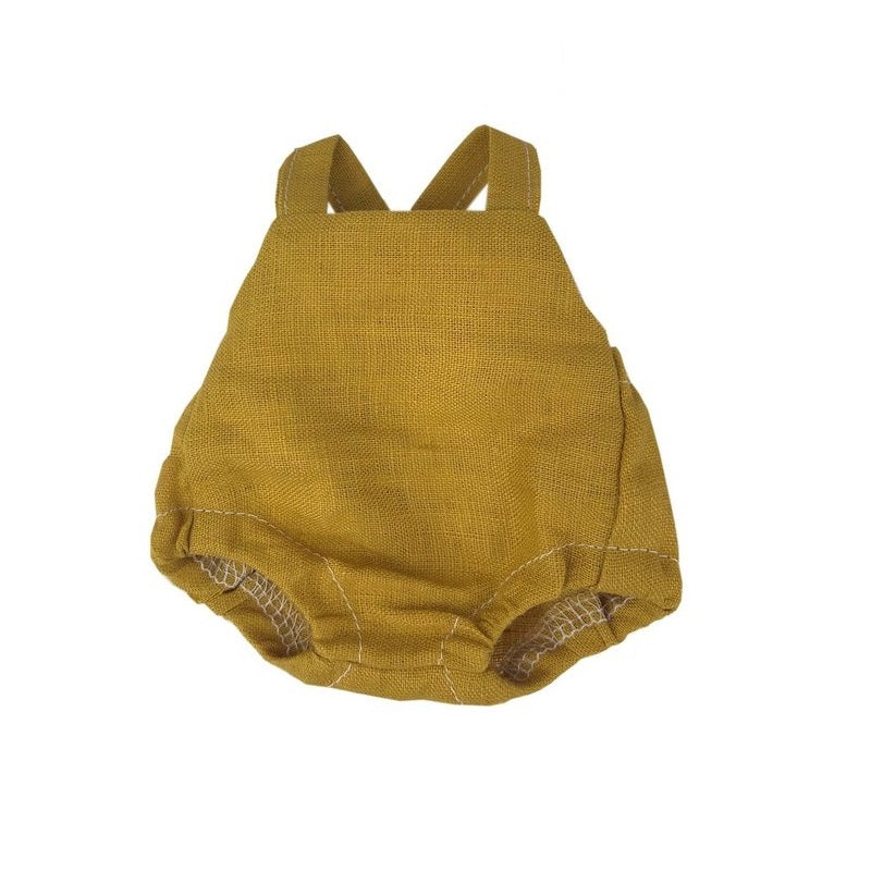 linen romper (various colours) - 21cm