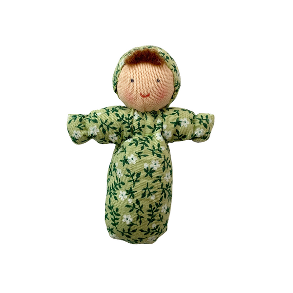 mini baby doll - green floral