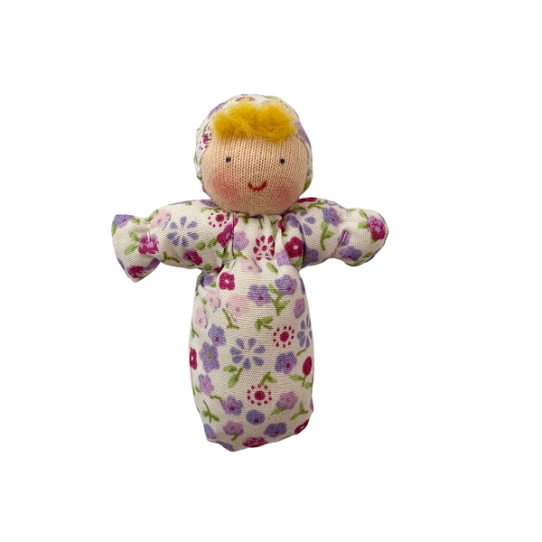 mini baby doll - purple floral
