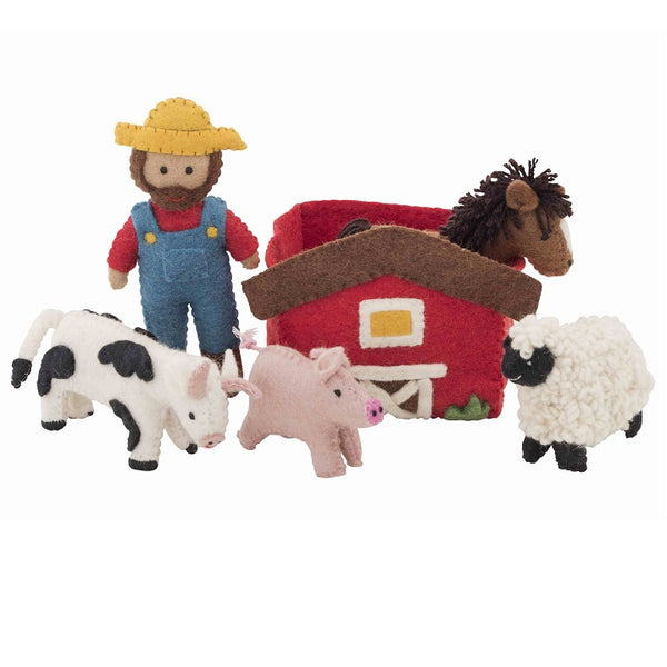 farmyard felt playset