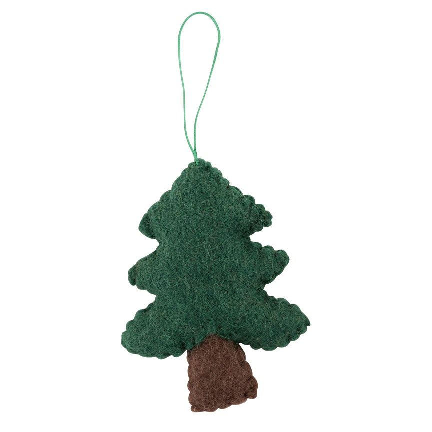 pine tree felt christmas decoration