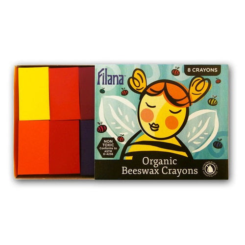 block beeswax crayons - set of 8