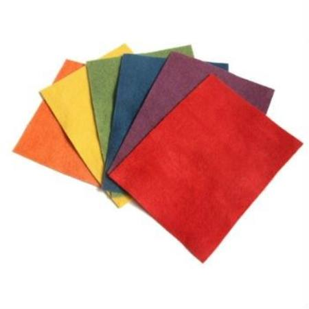 botanically-dyed felt - rainbow