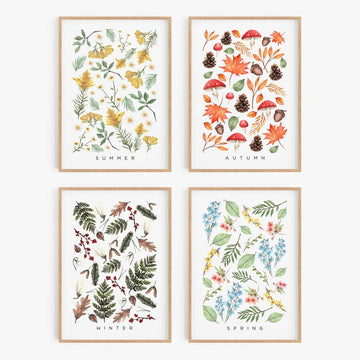 seasonal prints - set of 4