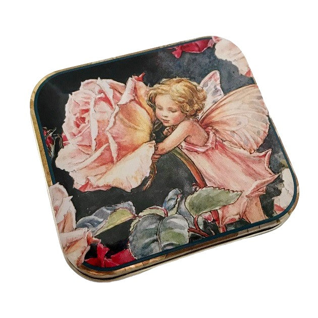 flower fairy pocket tin; rose