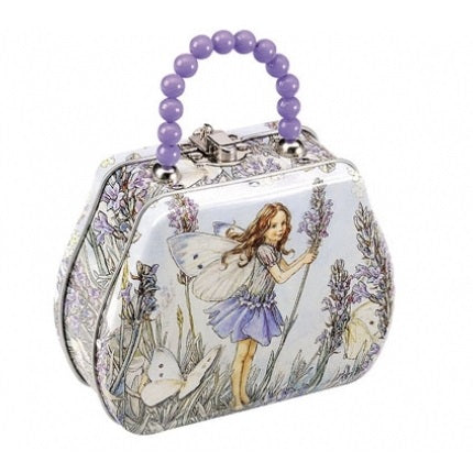 beaded tin bag - lavender
