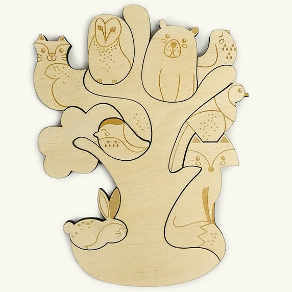 forest friends, magnetic woodland puzzle