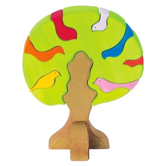 light green nesting bird puzzle
