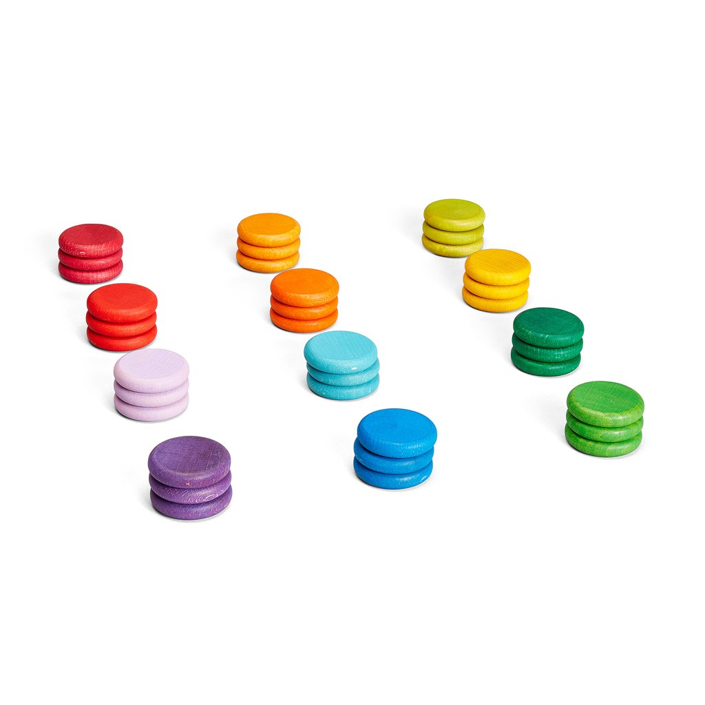 coloured coins - set of 36