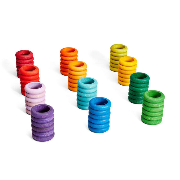 coloured rings - set of 72