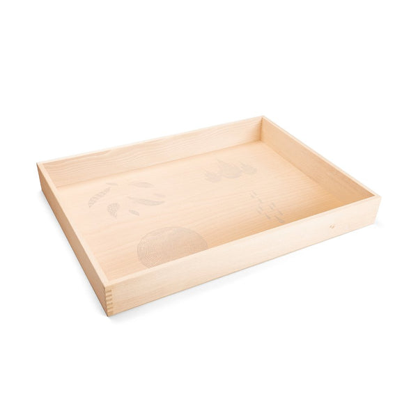 wooden sensory tray / free play box