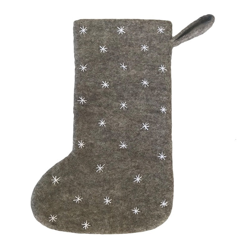 christmas stocking - grey