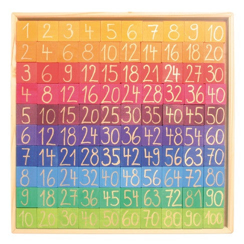 counting with colours - hundreds board