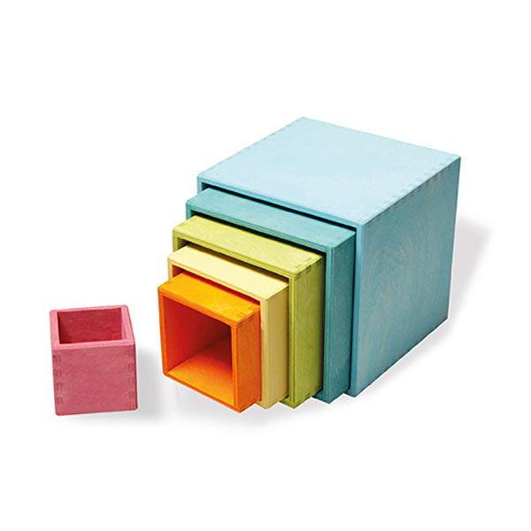 pastel stacking boxes - large