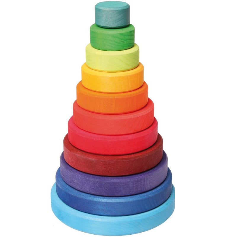 rainbow conical stacking tower