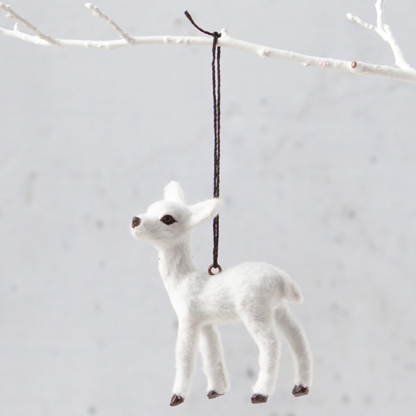 white fawn decoration