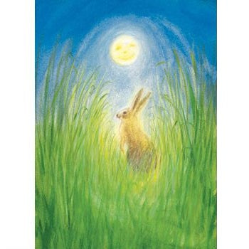 hare and the moon postcard