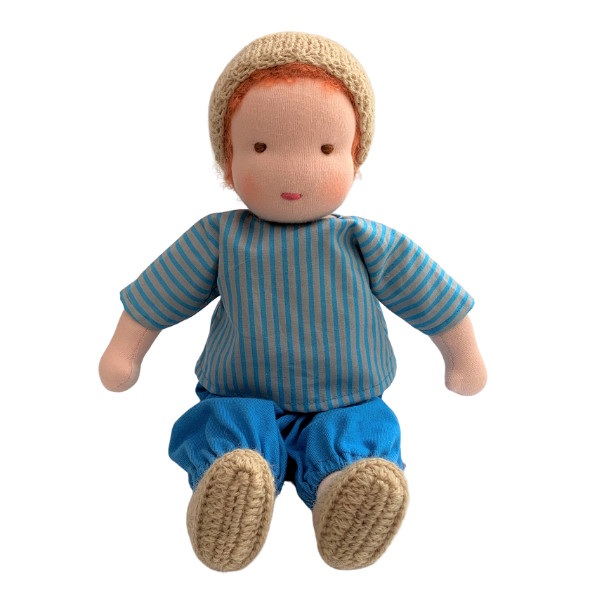 howie - waldorf boy doll with red hair (various)