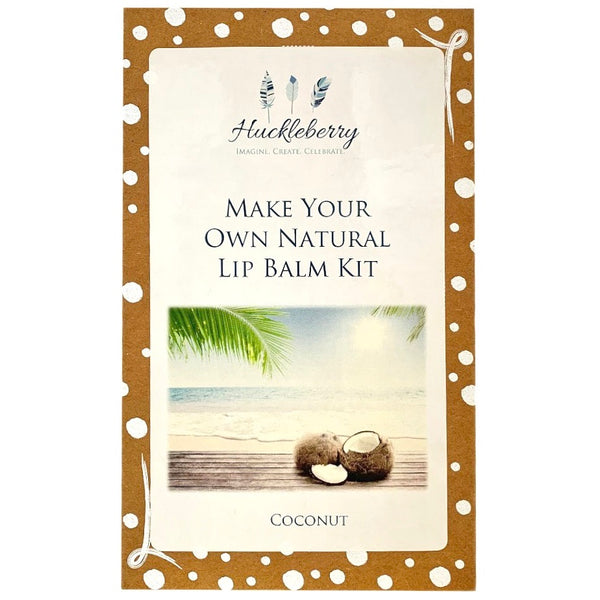 make your own natural lip balm kit - coconut