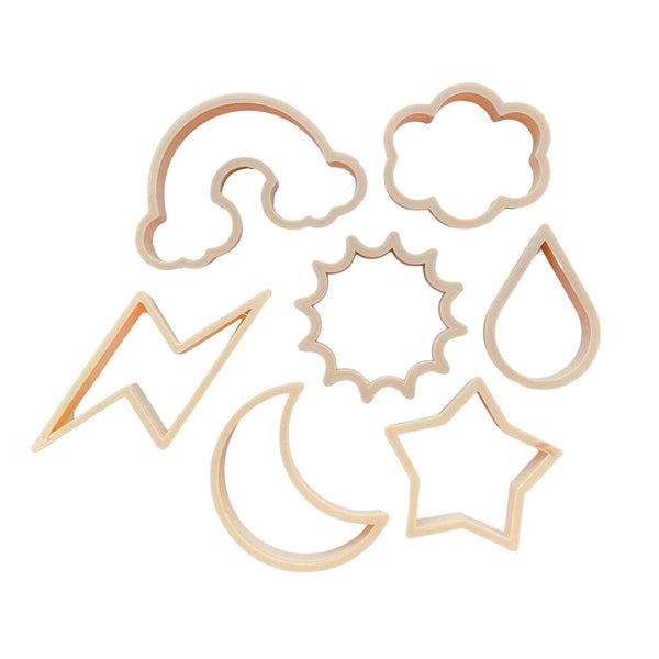 sky / weather dough cutters - set of 6
