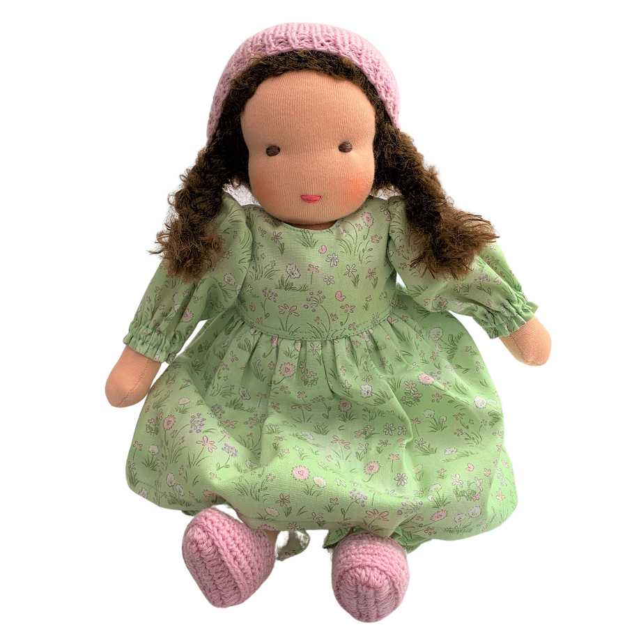 molly - waldorf girl doll with brown hair