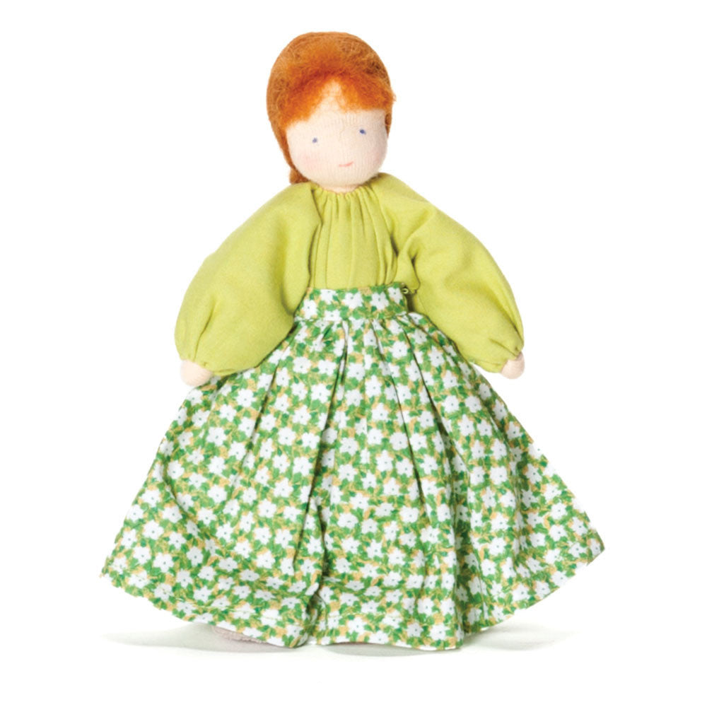 fair mother doll - red hair