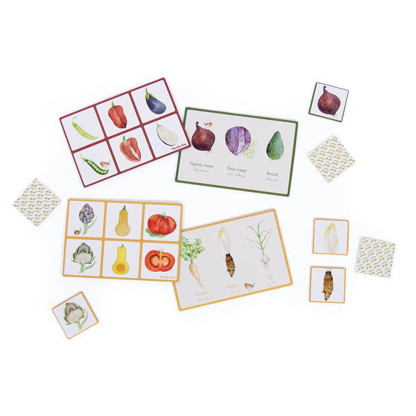 vegetable lotto and memory game