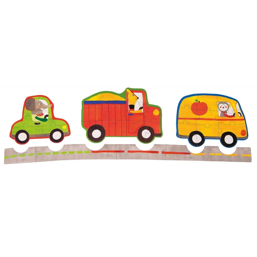 vehicles puzzle - 6, 9 & 11 piece