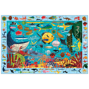 ocean life, search and find puzzle - 64 piece
