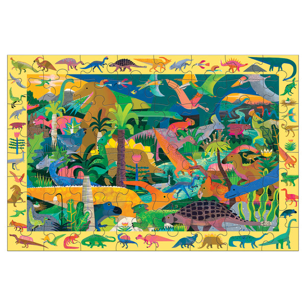 dinosaur life, search and find puzzle - 64 piece