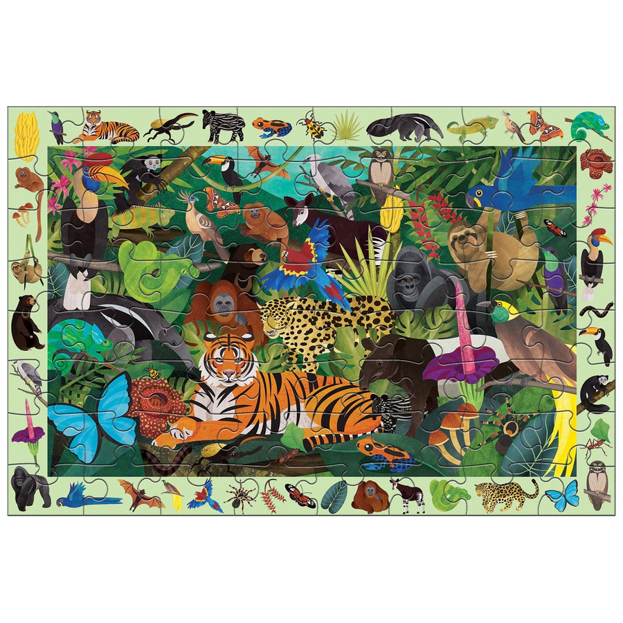 rainforest life, search and find puzzle - 64 piece