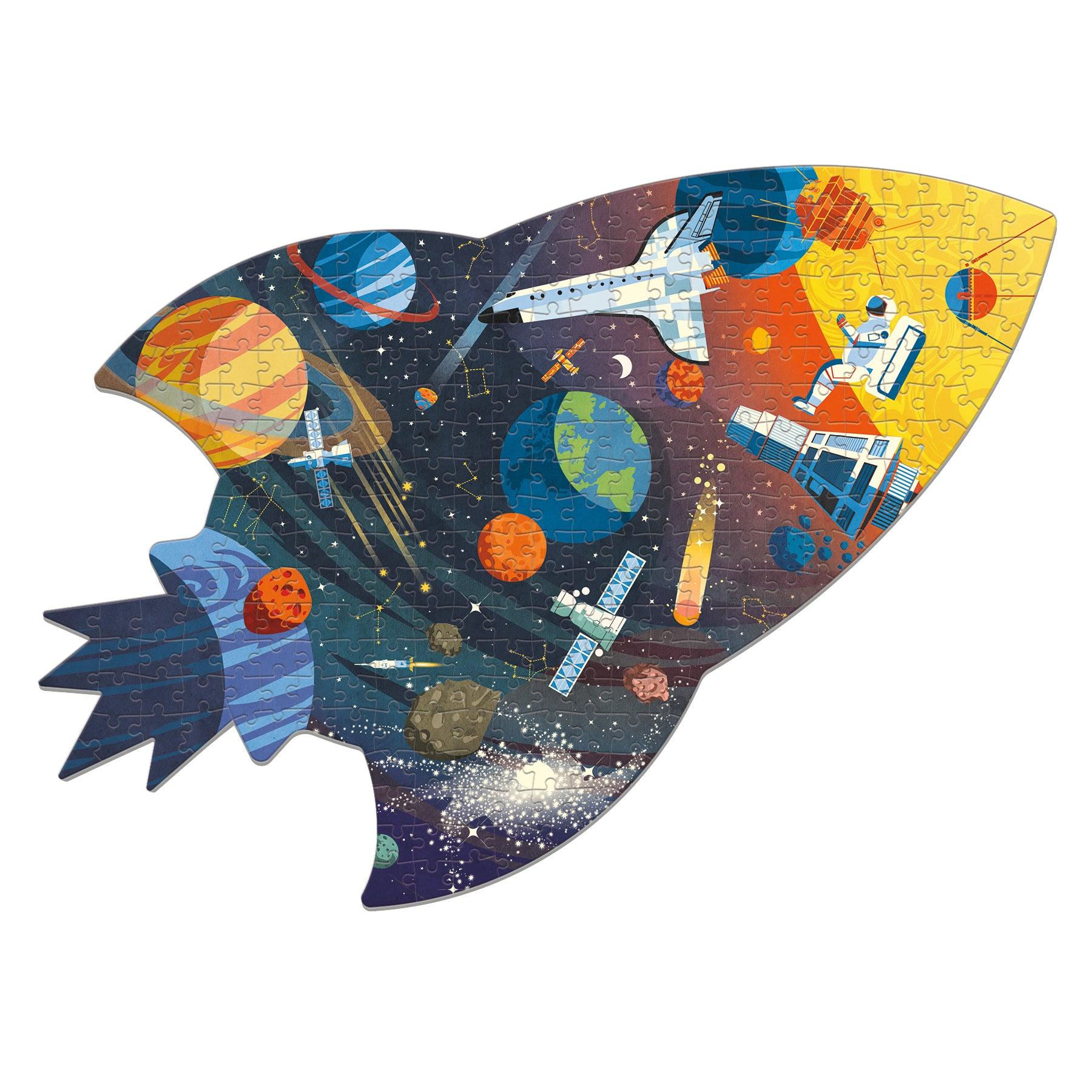 outer space shaped puzzle - 300 piece