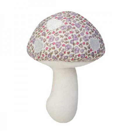 toadstool rattle - purple garden