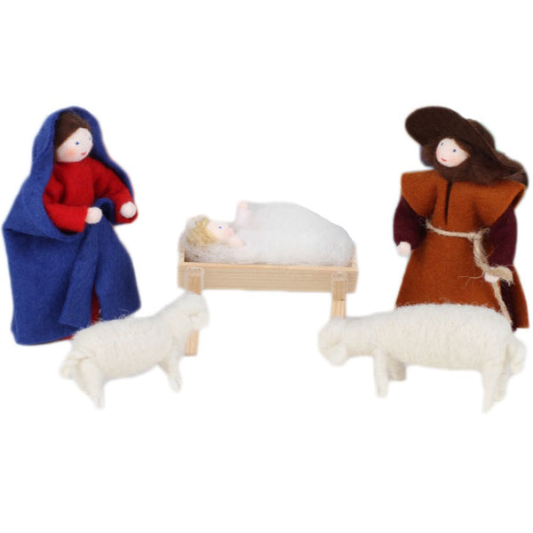 mary, joseph and baby jesus dolls