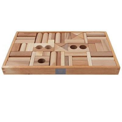 natural wooden block set - 54 piece