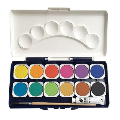 watercolour paint set - 12 colours