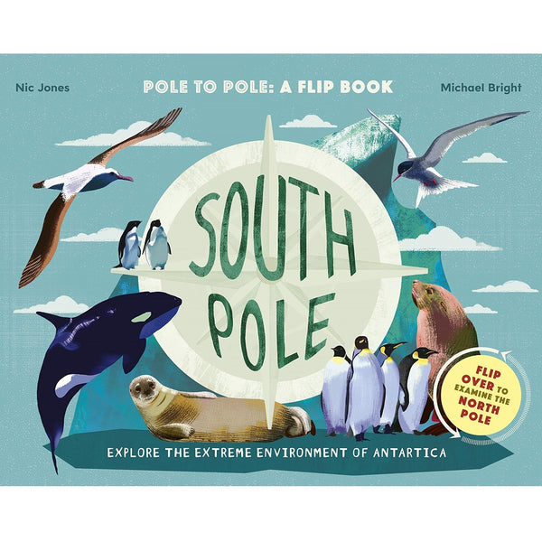 north pole, south pole flip book