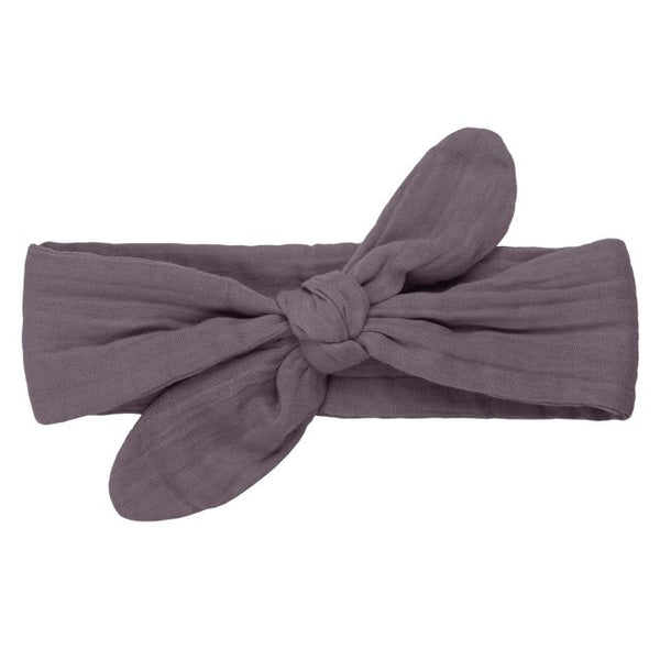 romy bow headband - dusty lilac