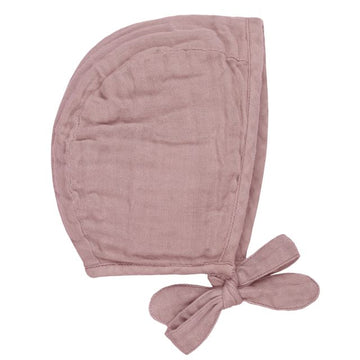 baby bonnet - dusty pink