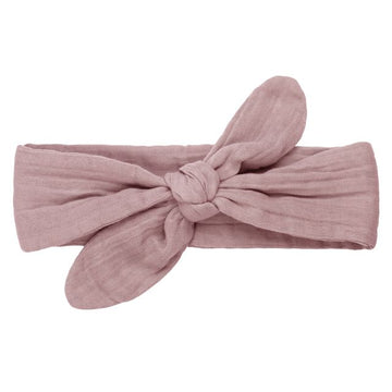 romy bow headband - dusty pink