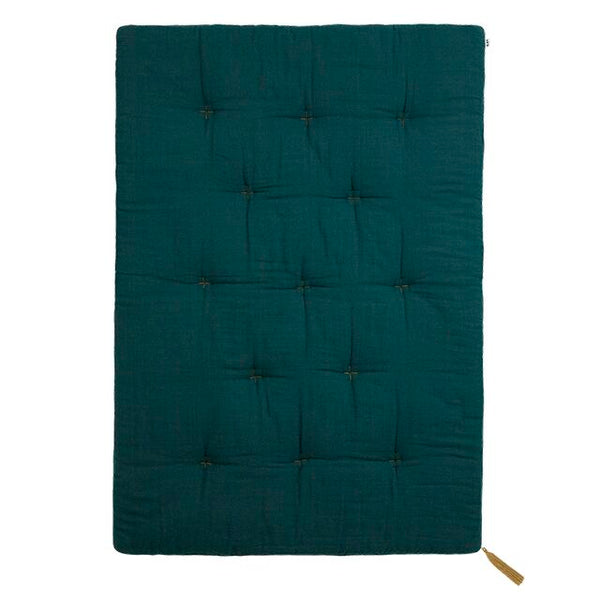 futon playmat - teal blue